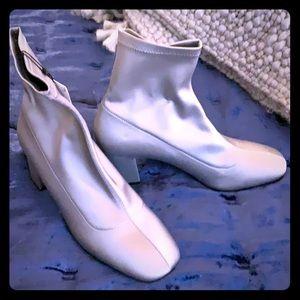 Zara modern silver ankle boots